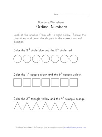 Ordinalnumbers printable thumbnail preview 327x440 free worksheets for first gradearten ordinal