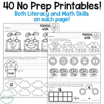 Original stunning free kindergarten morning work picture ideas spring by sweet sounds