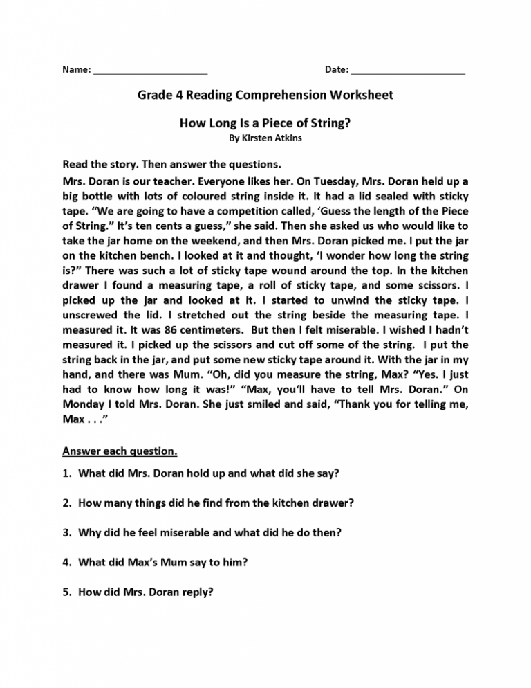 Outstanding comprehension worksheets forde 768x994 english pdf theme free