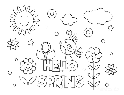 Outstanding free printable spring coloring pages pdfs hello kids poster to color