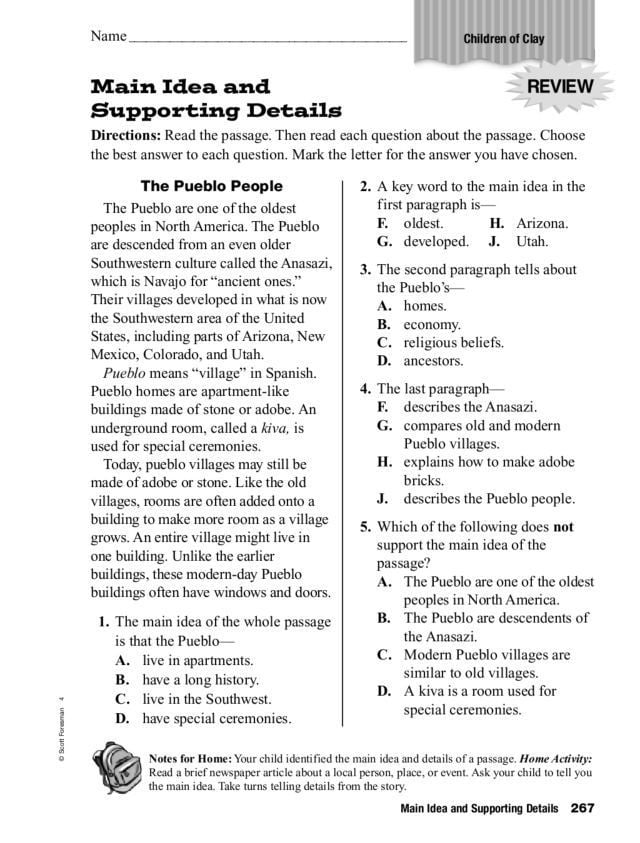 Outstanding high school reading comprehension passages with multiple choice questions