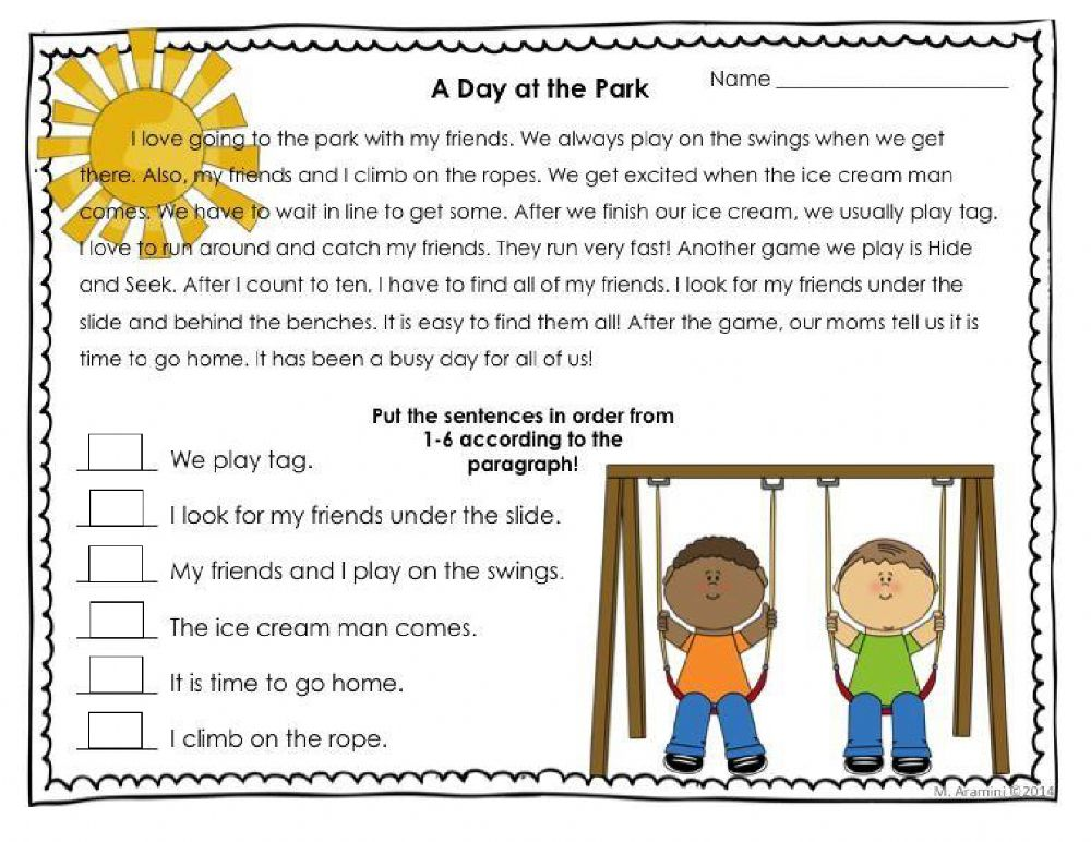Outstanding story sequencings pdf 3rd grade events
