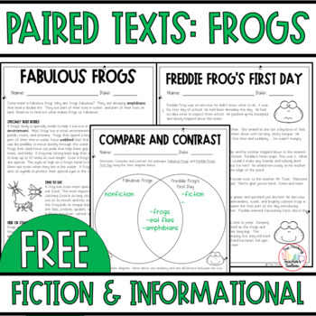 Paired passages grade printable photo ideas original frogs freebie by the thinking teachers toolbox