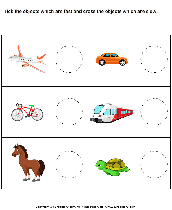 Phenomenal fast and slow worksheets for kindergarten photo ideas find hurtige