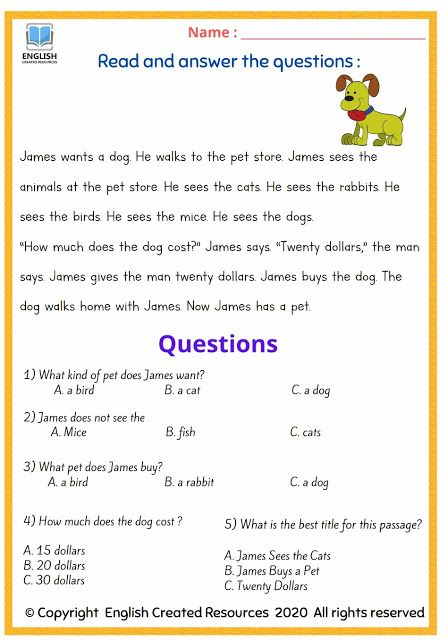Phenomenal gradeng comprehension worksheets image ideas 2nd passages