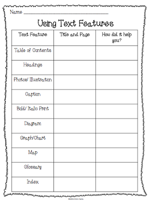 Pin by rebecca seaton on super second grade nonfiction text features texts worksheet 2nd