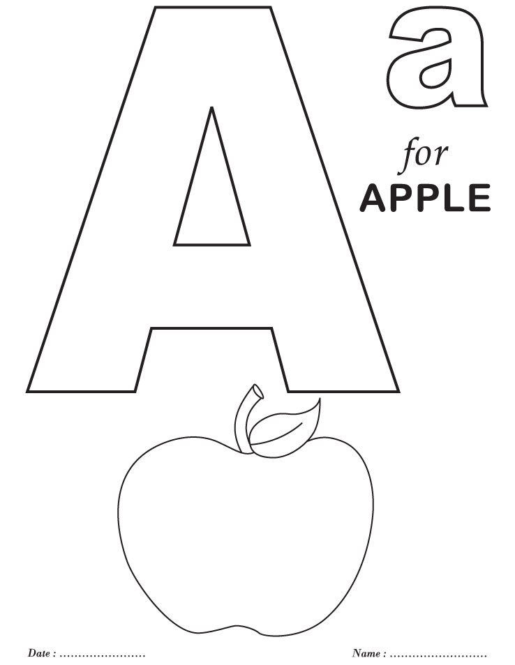 Printables alphabet coloring sheets download free for kids best pages learnntable kindergarten awesome
