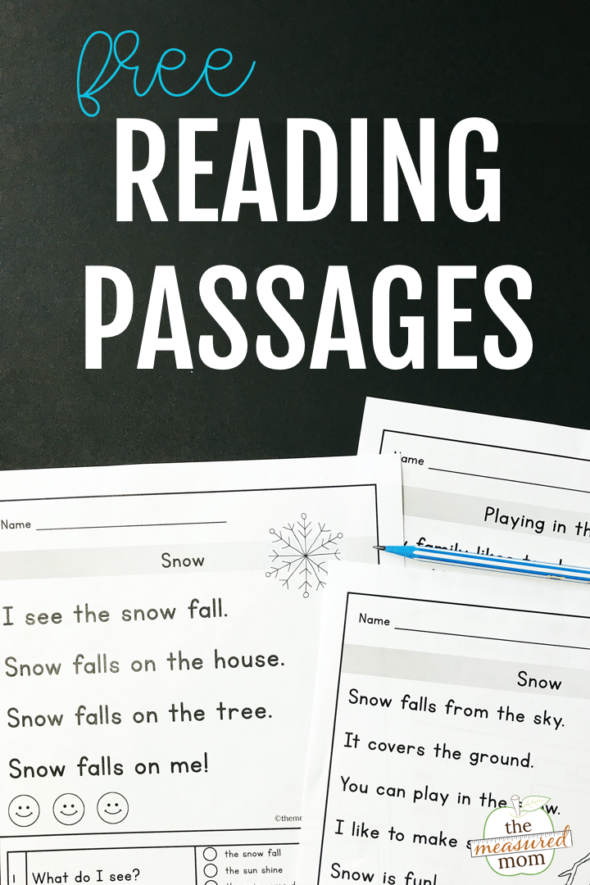Reading comprehension passages for earlyeaders the measured mom in passage free leveled