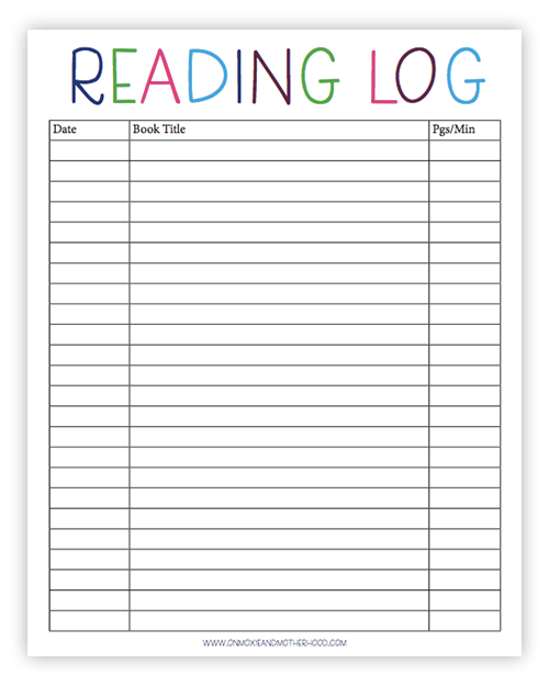 Reading log worksheet picture inspirations free printable sight words lists and learn to read tips homeschool