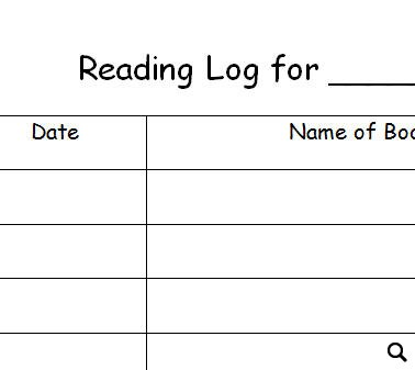 Reading log worksheet picture inspirations