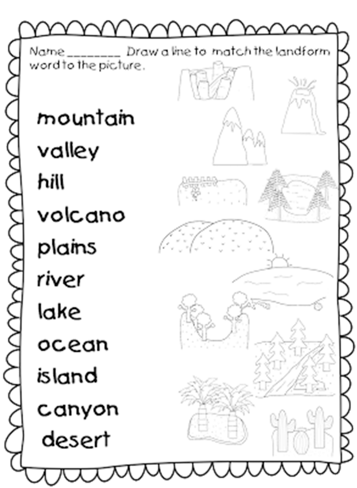 Social studies themes kindergarten first grade and units worksheets pdf geography lesson