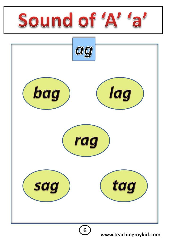 Sound of a ag phonics activities for kindergarten free worksheets sound teaching my kid fantastic image
