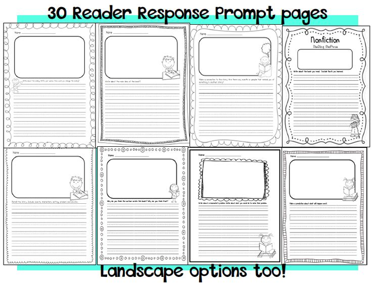 Staggering first gradeng response sheets sarahs snippets reader prompts
