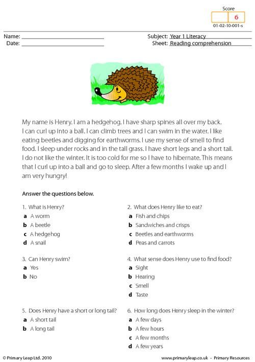 Students read the text and answer multiple choice questions reading comprehension texts passages