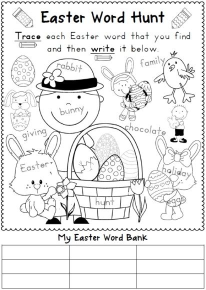 Stunning easter worksheets for kids reading and writing distance learning