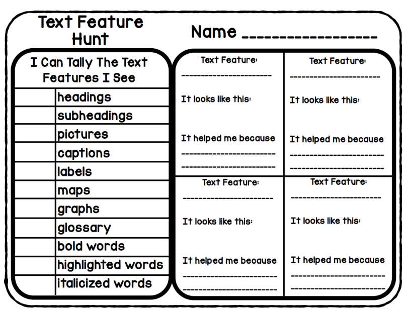 Text features worksheet 2nd grade picture ideas im going on ae280a6text feature hunt freebie ahead