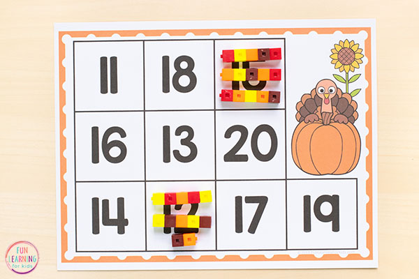 Thanksgiving math activities for kindergarten turkey count and cover amazing picture ideas summer