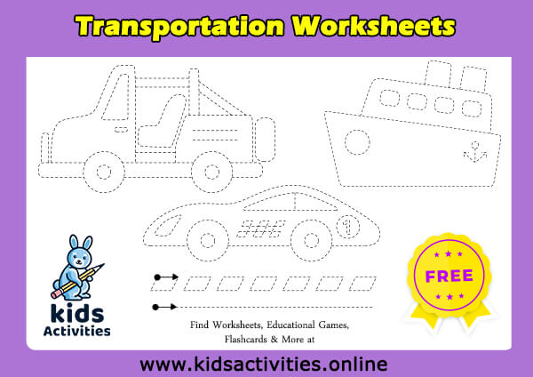 Trace the line tracingets for kids free printable to