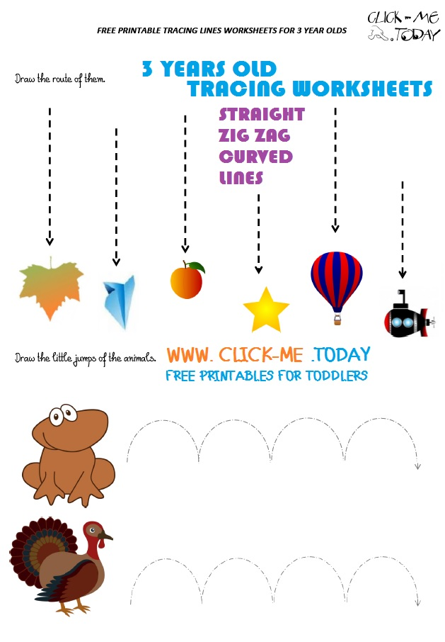 Tracing lines worksheets for year old in pdf free printable olds photo