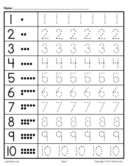 Tracing worksheets numbers preschool math free awesome sheets for preschoolers picture ideas
