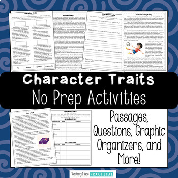 Tremendous reading and identifying characterits printable photo ideas original no prep activities