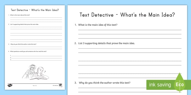Us2 whats the main idea activity sheet ver 1 excelent informational textsheets photo inspirations detective