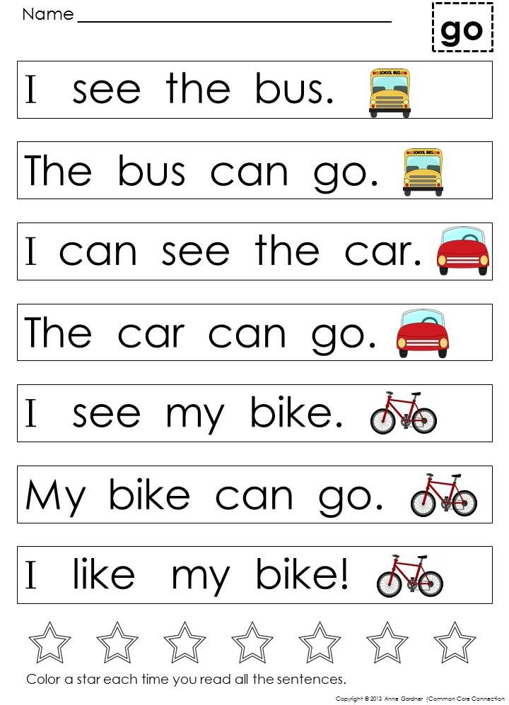 Very first sight word sentences help students master words and develop eare280a6 kindergarten reading worksheets phenomenal