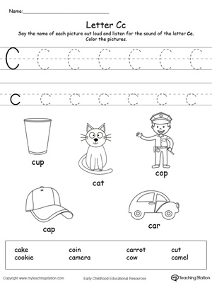 Words starting with letter fabulous worksheets for toddlers the free printable