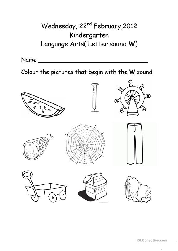 Worksheet on theter w fun activities games 30225 1 pictures for kindergarten english esl worksheets distance learning and physical classrooms awesome