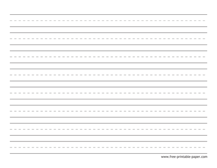 Writing paper for kindergarten printable lined kids free